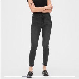 Gap   High Rise True Skinny Ankle Raw Hem Jeans